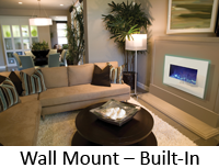 electric fireplaces - wall mount or built-in Amantii