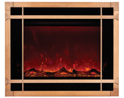 Electric Fireplace - Blacksmith style - Design Specialties Steel Overlay