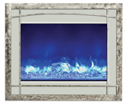ZECL-39 Mission Style steel overlay - electric fireplace